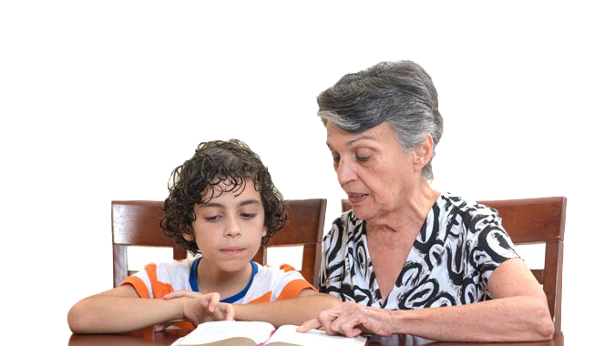 bottom grandmother kid studying rev1