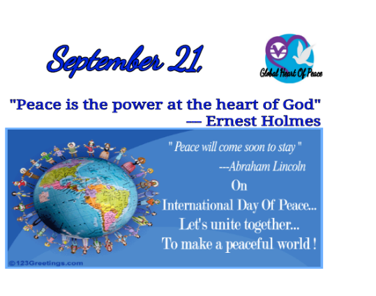 International Day of Peace: September 21